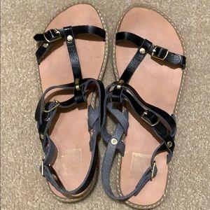 Dolce Vita black leather sandals